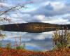 Stechlinsee an einem ruhigen Herbsttag